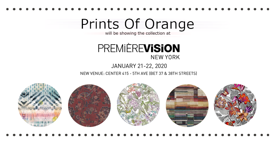 prints of orange at Heimtextil Frankfurt